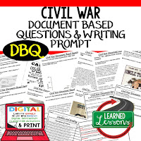 Civil War DBQ, Early American History DBQ, DBQ Document Based Question Writing Activity, American History Activities