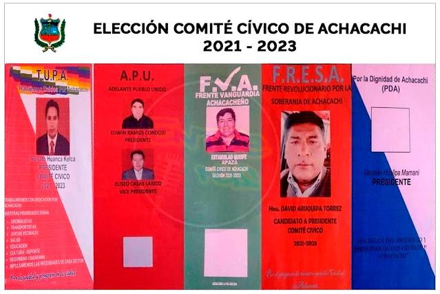 Elección a Comité Cívico de Achacachi