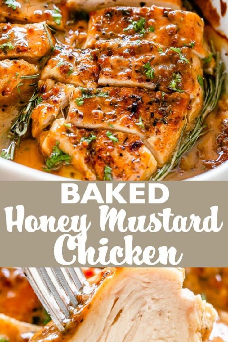 Easy Healthy Baked Honey Mustard Chicken