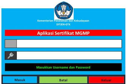 Aplikasi Sertifikat MGMP Format Excel
