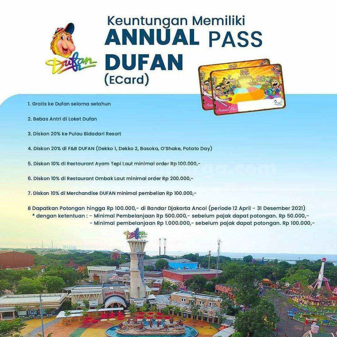 Promo DUFAN FLASH SALE – Harga Annual Pass cuma Rp299.000