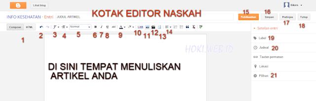 Editor naskah blogspot.