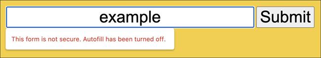 تحذير نموذج HTTP