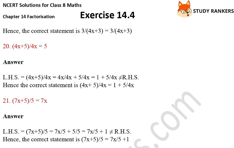 NCERT Solutions for Class 8 Maths Ch 14 Factorization Exercise 14.4 5