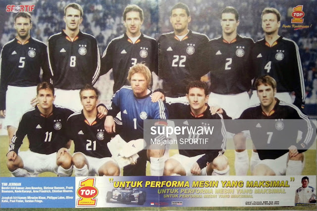 GERMANY DEUTSCHLAND TEAM SQUAD 2004
