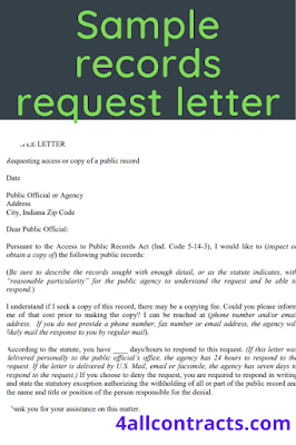 How do you start a letter of request ?