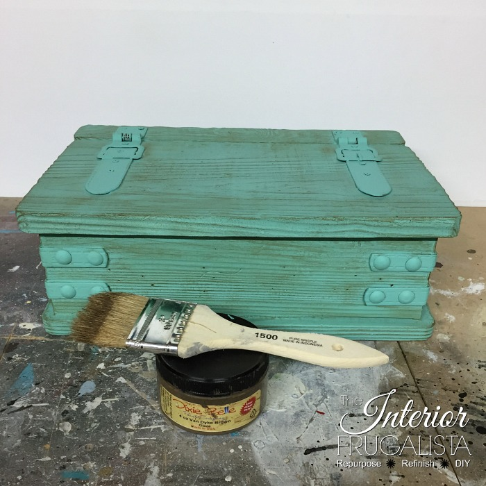 Destination Beach Wedding Card Box With Brown Glaze