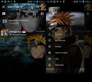 bbm mod Naruto v3.3.0.16 versi terbaru