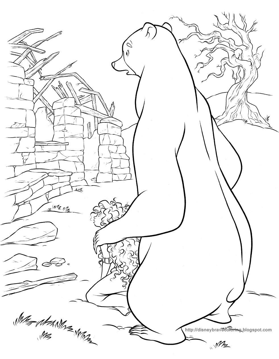 disney brave coloring pages - photo #46