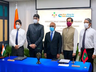India signed pact with Maldives for Greater Male Connectivity Project
