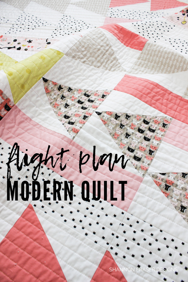 Flight Plan | Modern Quilt by Shannon Fraser Designs