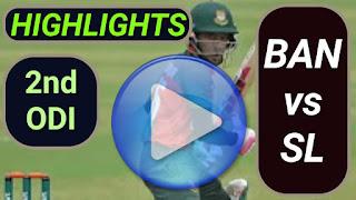 BAN vs SL 2nd ODI 2021