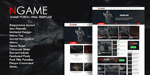 Newsgame Responsive Blogger Template