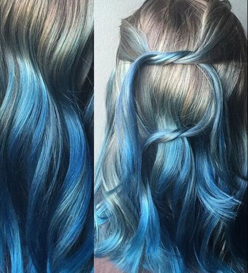 Blue Ombre Is The Hair Color of The Century