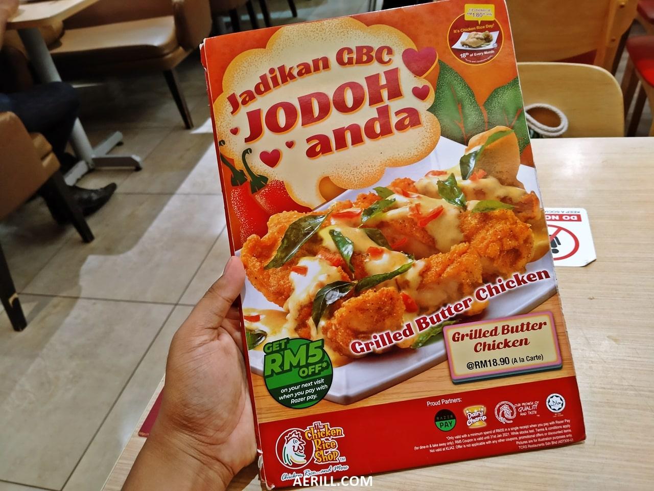 The Chicken Rice Shop Bawa Kembali Hidangan 'Grilled Butter Chicken'