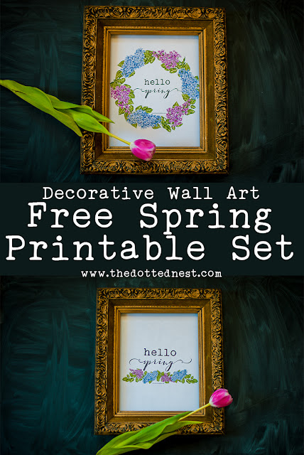 Decorative Floral Wall Art Spring Printable
