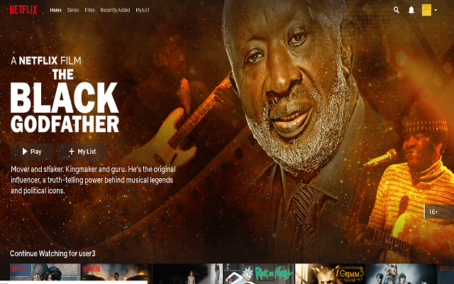 black godfather netflix account