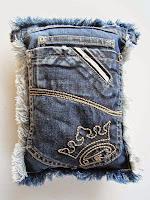 Coussin en poches de jean