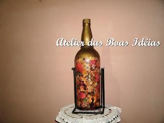 garrafas decorativas