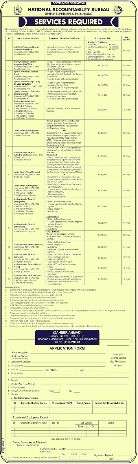 NAB Jobs 2019 | 60+ New Vacancies | National Accountability Bureau