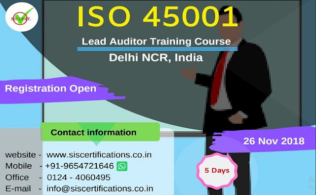 iso 45001 certification in india