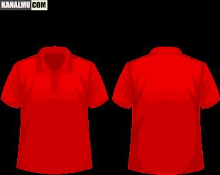 mentahan kaos polos merah polo PNG - kanalmu