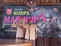 Purnamar Malang Raya Peringati HUT 75 Korps Marinir, Ebes Inep Disemati Baret Ungu