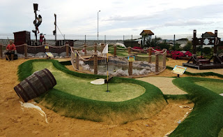 Pirate Island Adventure Golf at Lyons Robin Hood Holiday Camp in Rhyl, Wales