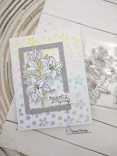 Easter Lily's a card by Diane Morales using Easter Lily Stamp Set by  Newton's Nook Designs