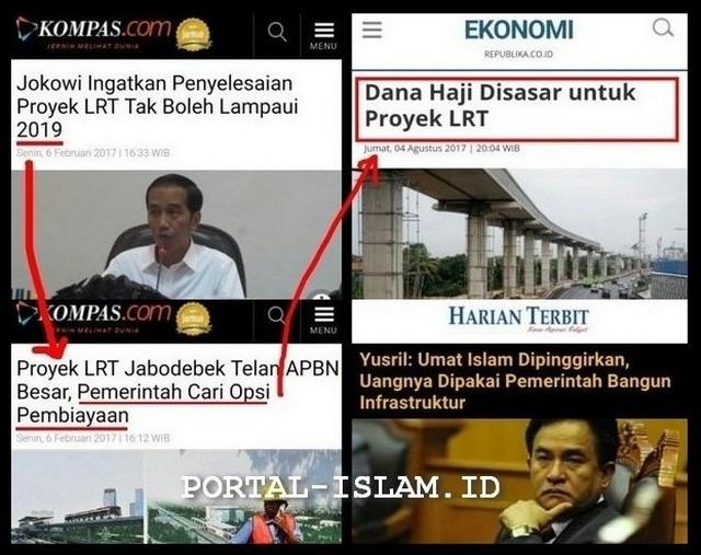 Dana Haji Disasar untuk Proyek LRT, Demi Ambisi 2019; UMAT nya Dipinggirkan UANG nya Dipakai