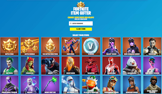 Fortnite item gifter [Free] from fnbr.vip