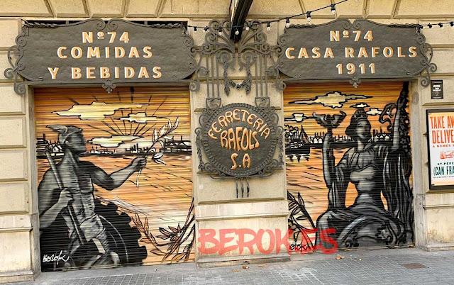 graffiti en persianas