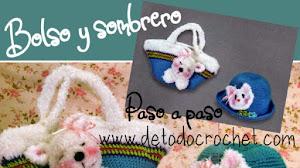 Sombrero y bolso infantil a crochet | Patrones y explicación
