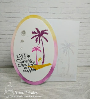 Live in the Sunshine Card by Diane Morales  |  Paradise Palms Stamp Set
