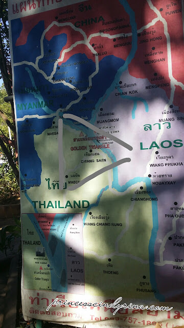 map of Laos and Thailand