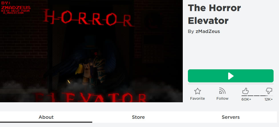 The Horror Elevator Roblox Game
