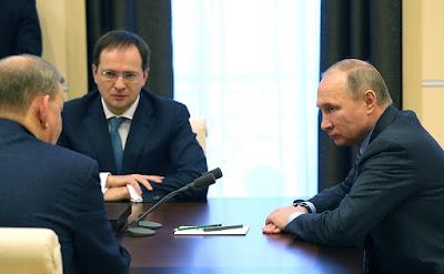 Vladimir Putin, Vladimir Medinsky, Vladimir Urin.