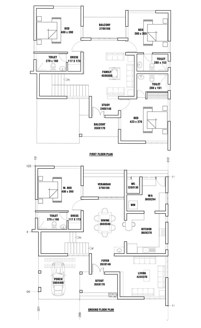 Small Plot 4 Bedroom Smart Home Design with Free Home Plan ...