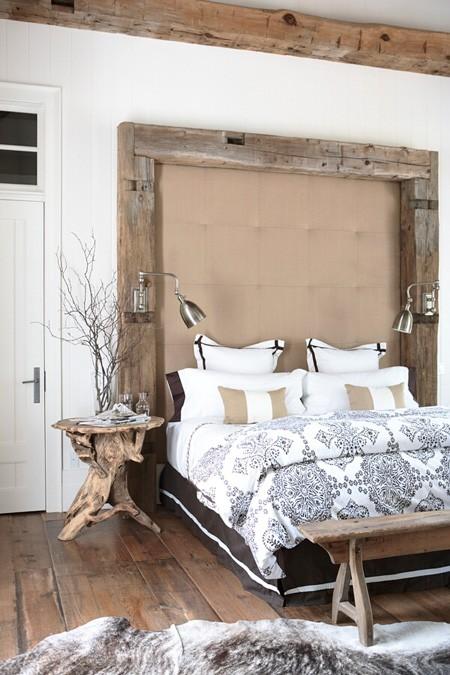 Rustic Industrial Bedroom: Loft & Cottage: Rustic Chic Bedroom