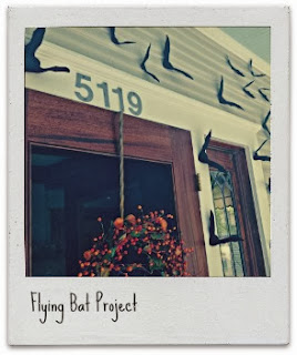 Flying Bat project - great Halloween craft!