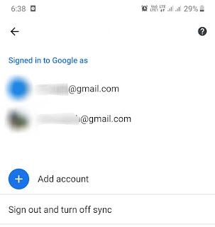 Sign out and turn off sync