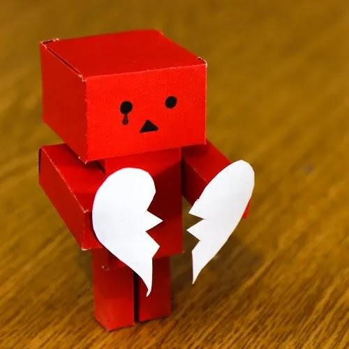 broken heart with drop of tear DP for boys