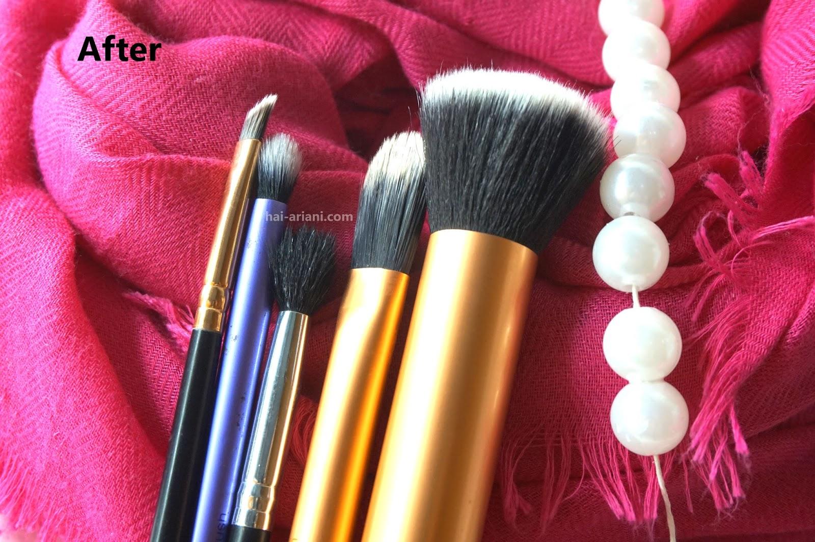 cara mencuci brush makeup