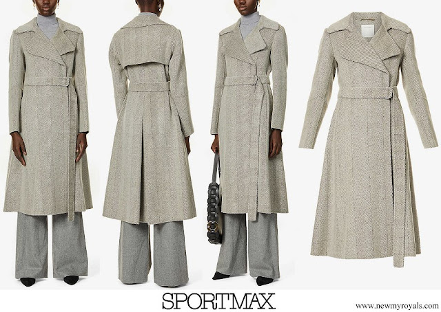 Countess of Wessex in SPORTMAX Panarea herringbone print wool coat