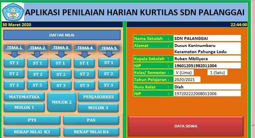 Download Aplikasi Penilaian Kurikulum 2013 Sd Revisi Rpp Kurikulum