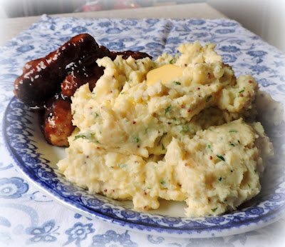 Sticky Sausages with Cream & Mustard Mash