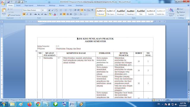 Download Perangkat Lengkap Kisi Kisi KD Pelajaran 6 Pembulatan Panjang dan Berat Matematika Kelas 4 SD MI Kurikulum 2013 Revisi Terbaru