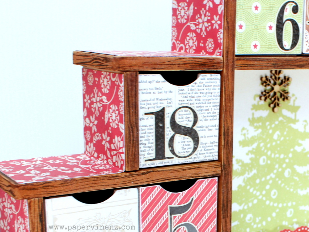 Shadow Box Advent Calendar (Echo Park And Kaisercraft