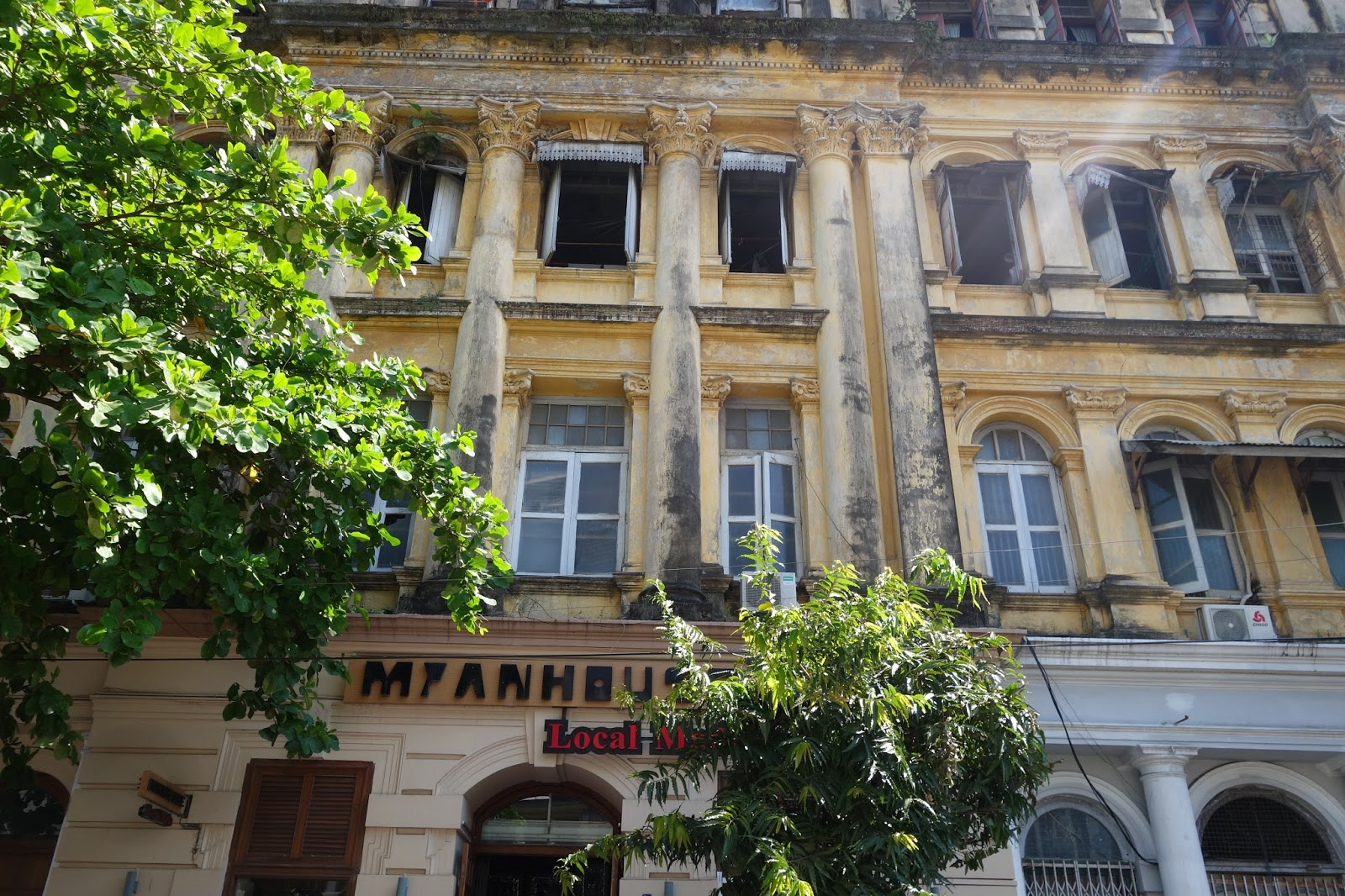 Sofaer Co Building Yangon Sofa Bed Slipcover Using Easy Pattern Method My Trip To Burma Part 1 Cool Colonial Architecture