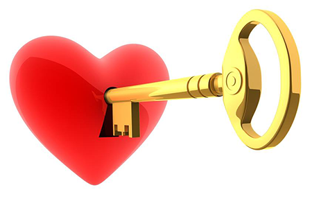 Golden key to unlock a heart